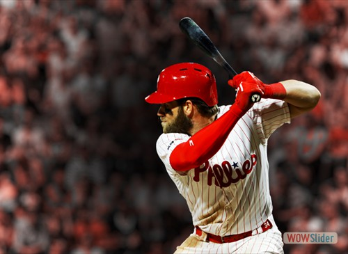 Bryce Harper's walk-off two-run double gave the Phillies a come from behind 9-8 win over the Dodgers on Tuesday.