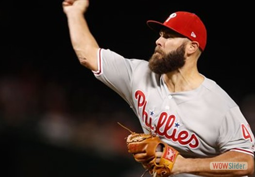Jake Arrieta tossed 6.2 scorless innings, as the Phillies beat the Braves 4-0 on Wednesday.
