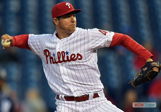 Jerad Eickhoff gave up 7 runs in 4 innings, as  the Phillies lost to the Diamondbacks 13-8 on Monday.