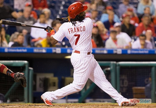Maikel Franko homerwd forthe 3ed consecutive game, as the Phillies ended the season with an11-0 win over the Mets.