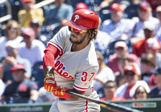 Odubel Herrera is the Phillies' finalist for the Hank Aaron Award